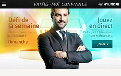Page d'accueil de l'application Faites moi confiance TVA
