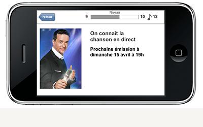 TVA On connait la chanson application mobile architecture accueil direct