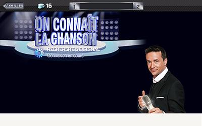 TVA On connait la chanson application mobile accueil direct