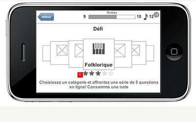 TVA On connait la chanson application mobile architecture écran trivia