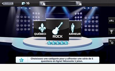 TVA On connait la chanson application mobile écran du travia